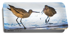 Sanderlings Playing At The Beach Portable Battery Charger