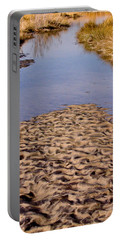 Portable Battery Charger featuring the photograph Sandform At Sand Hook by Gary Slawsky