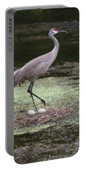 Sandhill Crane And Eggs Portable Battery Charger