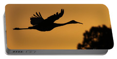 Sandhill Crane In Flight Portable Battery Charger
