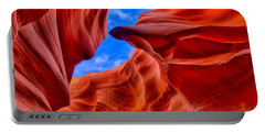 Portable Battery Charger featuring the photograph Sandstone Curves In Antelope Canyon by Greg Norrell