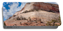 Portable Battery Charger featuring the photograph Sandstone Mountain by John M Bailey