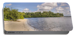 Portable Battery Charger featuring the photograph Sandy Beach by Jane Luxton