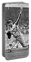 Sandy Koufax Throwing The Ball Portable Battery Charger