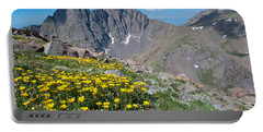 Sangre De Cristos Crestone Peak And Wildflowers Portable Battery Charger