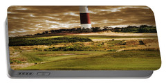 Sankaty Head Lighthouse In Nantucket Portable Battery Charger by Mitchell R Grosky