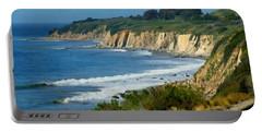 Santa Barbara Coast Portable Battery Charger by Ernie Echols