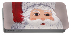 Portable Battery Charger featuring the painting Santa by Barbara McDevitt