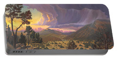 Santa Fe Baldy Portable Battery Charger by Art James West