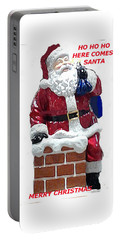 Portable Battery Charger featuring the photograph Santa Greeting Card by Jay Milo