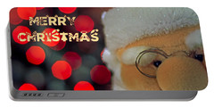 Santa  Portable Battery Charger by Spikey Mouse Photography