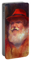 Santa Portable Battery Charger by Karen Whitworth