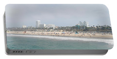 Santa Monica Beach, Santa Monica, Los Portable Battery Charger by Panoramic Images