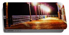 Santa Monica Pier At Night Portable Battery Charger