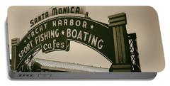 Santa Monica Pier Sign Portable Battery Charger
