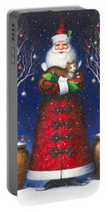 Santa's Cat Portable Battery Charger