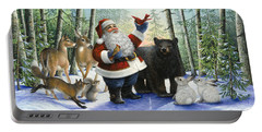 Santa's Christmas Morning Portable Battery Charger