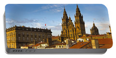Santiago De Compostela Cathedral Galicia Spain Portable Battery Charger by Pablo Avanzini