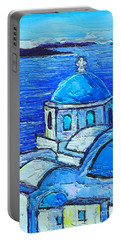 Santorini  Blue Portable Battery Charger