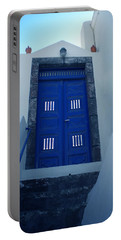 Portable Battery Charger featuring the photograph Santorini Door  To Heaven  by Colette V Hera  Guggenheim