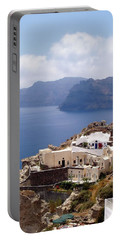Santorini Scene Portable Battery Charger