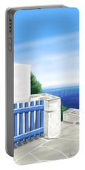Santorini Portable Battery Charger by Veronica Minozzi