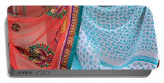 Portable Battery Charger featuring the photograph Saree In The Market by E Faithe Lester