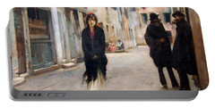 Sargent's Street In Venice Portable Battery Charger by Cora Wandel