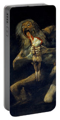 Saturn Devouring His Son Portable Battery Charger