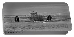 Portable Battery Charger featuring the photograph Savageton Cemetery  Wyoming by Cathy Anderson