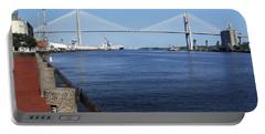 Savannah River Bridge Ga Portable Battery Charger