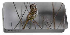Savannah Sparrow Portable Battery Charger by Marty Saccone