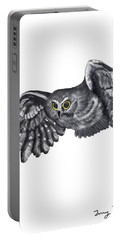 Saw-whet Owl Portable Battery Charger by Terry Frederick