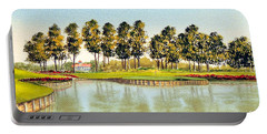 Sawgrass Tpc Golf Course 17th Hole Portable Battery Charger by Bill Holkham