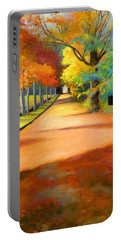 Sawmill Road Autumn Vermont Landscape Portable Battery Charger by Catherine Twomey