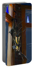 Portable Battery Charger featuring the photograph Sax At The Full Moon Cafe by Greg Reed