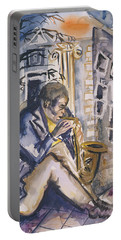 Sax Player, 1998 Wc On Paper Portable Battery Charger