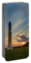 Scaffolding At Sunset Portable Battery Charger