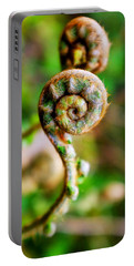 Portable Battery Charger featuring the photograph Scaly Male Fern Frond by Fabrizio Troiani
