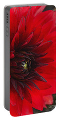 Scarlet Dahlia Portable Battery Charger by Janice Rae Pariza