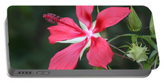 Scarlet Hibiscus #3 Portable Battery Charger