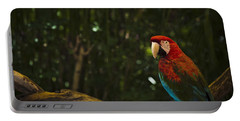 Scarlet Macaw Profile Portable Battery Charger