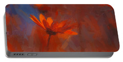 Scarlet Petals  Portable Battery Charger