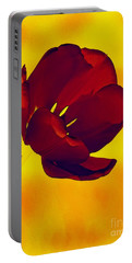 Scarlet Tulip At Sunset Portable Battery Charger