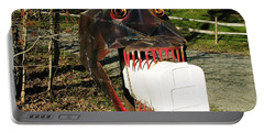 Portable Battery Charger featuring the photograph Scary Mailbox 2 by Sherman Perry