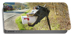 Portable Battery Charger featuring the photograph Scary Mailbox by Sherman Perry