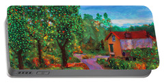 Portable Battery Charger featuring the painting Scene From Giverny by Deborah Boyd