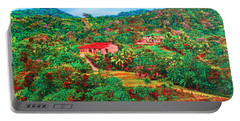 Portable Battery Charger featuring the painting Scene From Mahogony Bay Honduras by Deborah Boyd