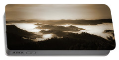 Scenery With Silhouettes Portable Battery Charger