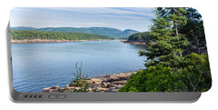 Portable Battery Charger featuring the photograph Scenic Cove At Acadia National Park by John M Bailey
